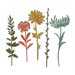 664163 Sizzix Thinlits Die Set 5PK - Wildflower Stems #1 by Tim Holtz